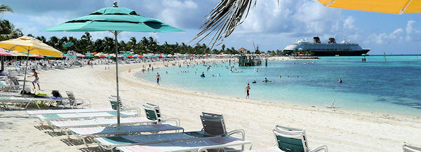 Beach at Castaway Cay.